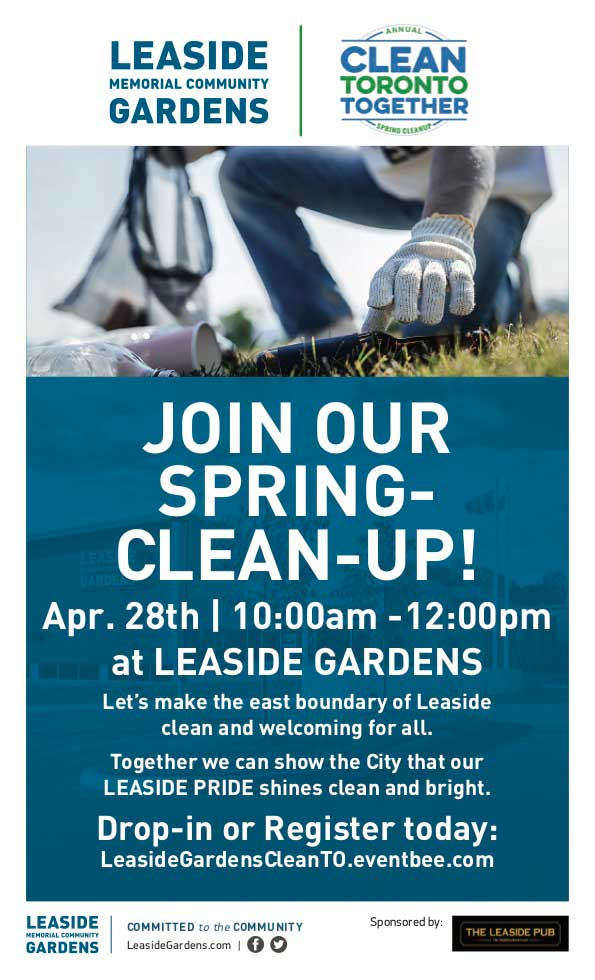 Leaside Gardens Spring 2019 Clean-up.