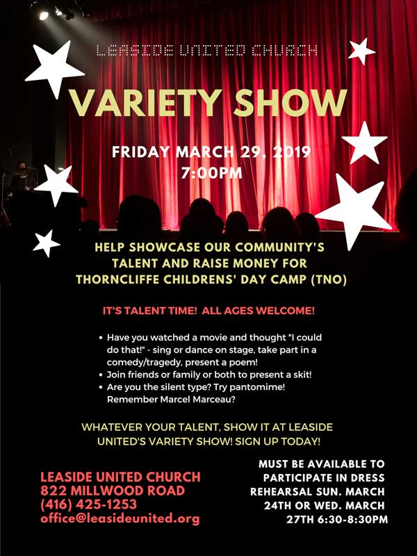 Leaside United Variety Show.