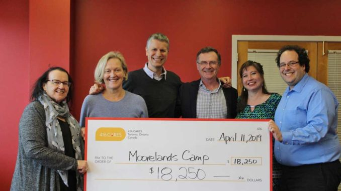 A final cheque for $18,250 was presented to representatives from Moorelands Kids on April 11.