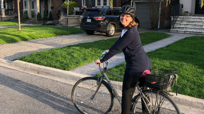 Carmen Jones (above) and Daphne Jackson are locally-based, experienced cycling commuters ready to help you bike your way to work.