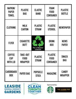 The Litter Bingo card.