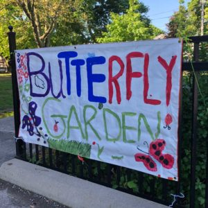 A butterfly garden at Rolph Road Public School.