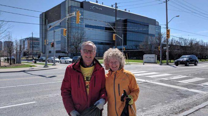 MP Rob Oliphant and Leaside Life columnist Cheryl Vanderburg.