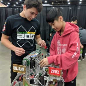 Students from the LHS Lancebotics team.