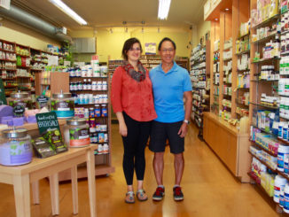 Peaches And Green Manager Elizabeth Roman and owner George Chow.
