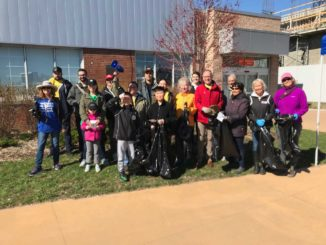 The sun shone brightly on the volunteers for the inaugural Clean Leaside Event. Photo Leaside Memorial Community Gardens.