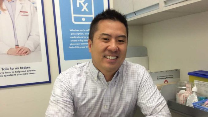 Brian Mok, owner of two Shoppers Drug Mart locations. Photo Lorna Krawchuk.