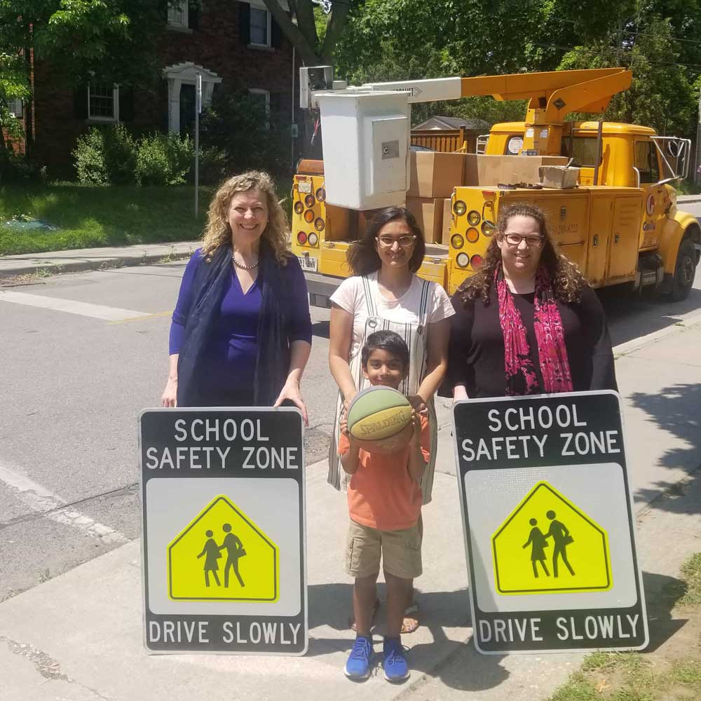 Launching the Northlea School Safety Zone.