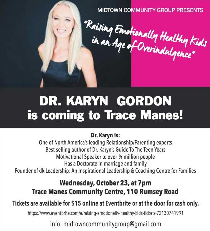 Dr. Karyn Gordon poster.