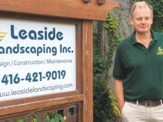 Simon Stevenson of Leaside Landscaping. Photo Lorna Krawchuk.