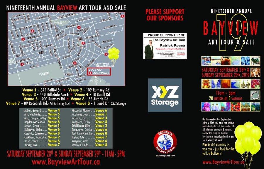 Bayview Art Tour brochure.