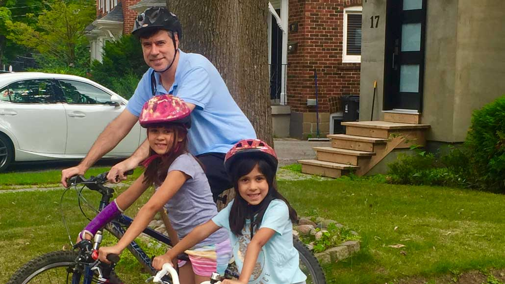 Meet two Leaside families who love to bike.
