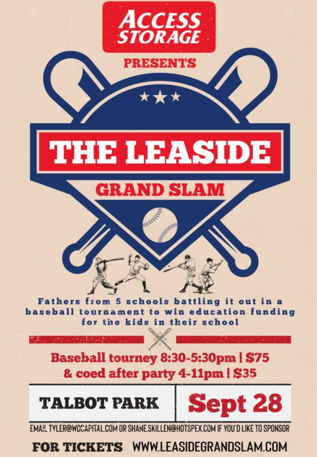 Leaside Grand Slam poster.