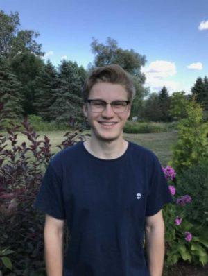Leaside resident Josh Paull, winner of the inaugural Garden Society Founders Scholarship.