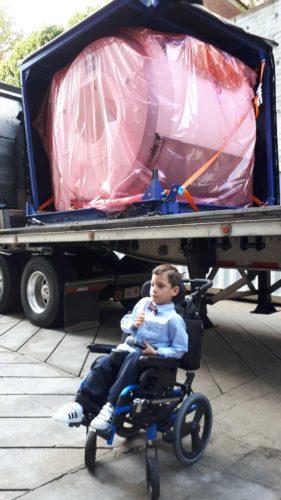 Gabriel, age 7, had cerebral palsy from birth. Photo Geoff Kettel.