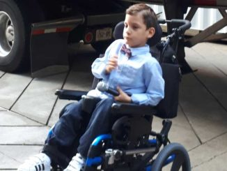 Gabriel, age 7, had cerebral palsy from birth.