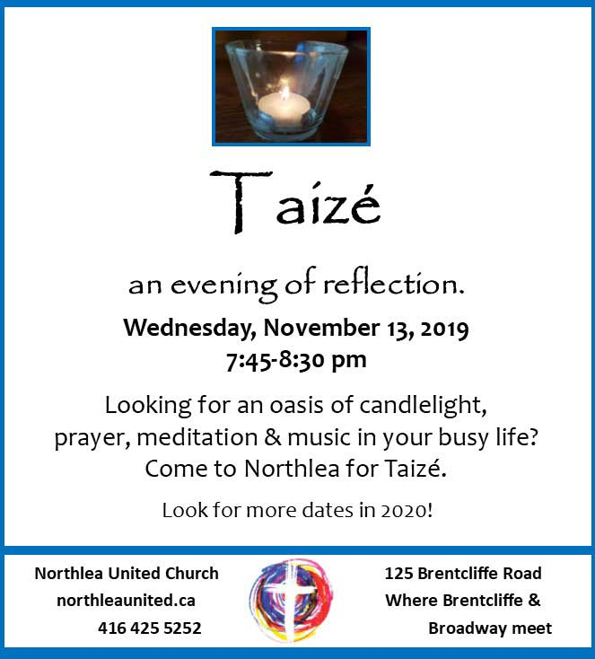 Taize poster.