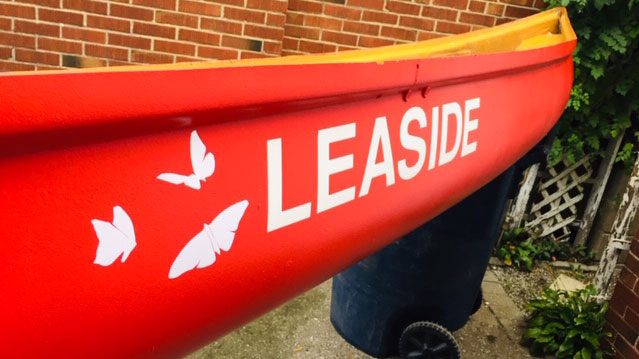 Leaside's first David Suzuki Butterfly Canoe will be filled with soil and pollinator plants. It will be at the Leaside Library. Photo Rick Hutchings.