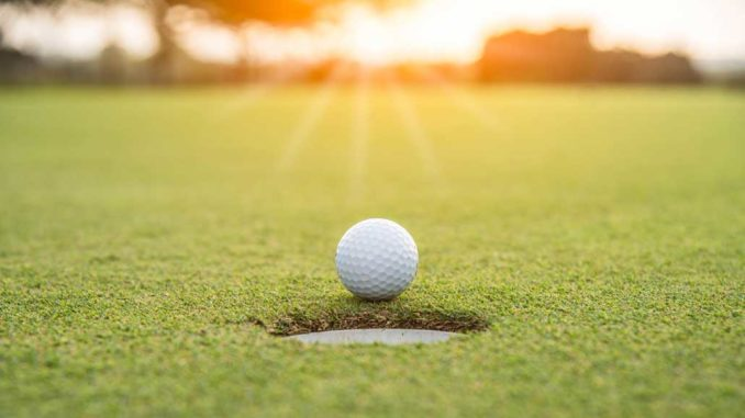 Picture of a golf ball.