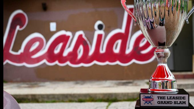 A picture of the Leaside Grand Slam cup.