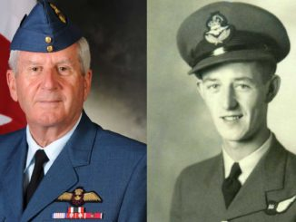 Left: Al Wallace, RCAF; Right: Major-General Fraser Holman.