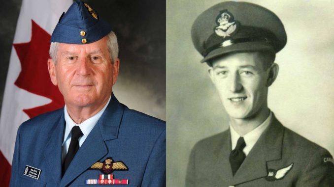 Left: Al Wallace, RCAF; Right: Major-General Fraser Holman.