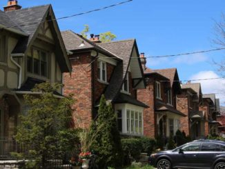 A row of traditional detached homes in Leaside. Staff Photo.
