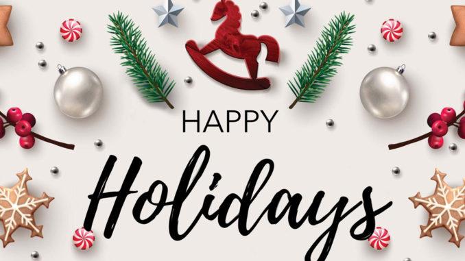 Happy Holidays 2019 image.