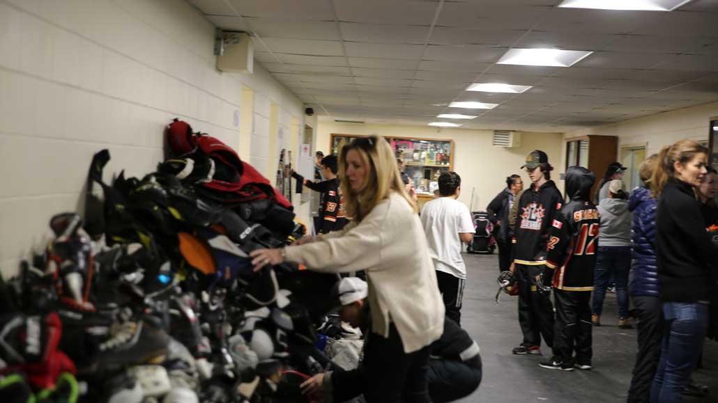 Hockey Equipment donations.