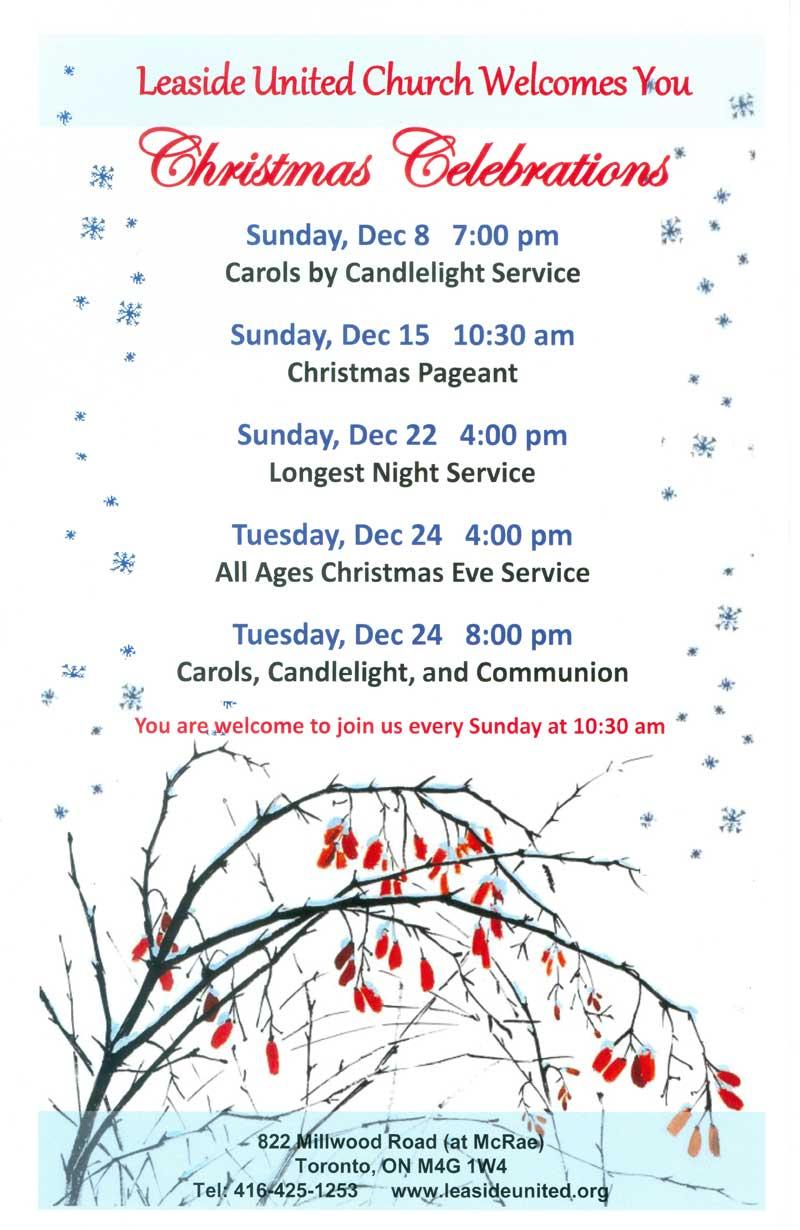 Leaside United December Events