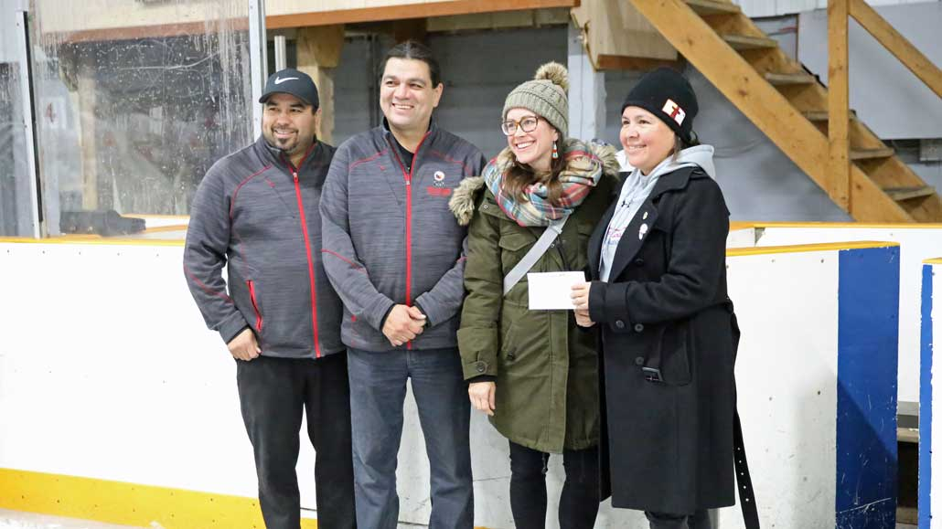 A donation was made to support the minor hockey program in the community.