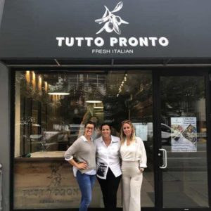 Tutto Pronto GM Natasha, owner Anna Maria and events manager Krisztina in front of the new store.