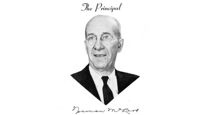 The first principal of Leaside High was Norman McLeod.