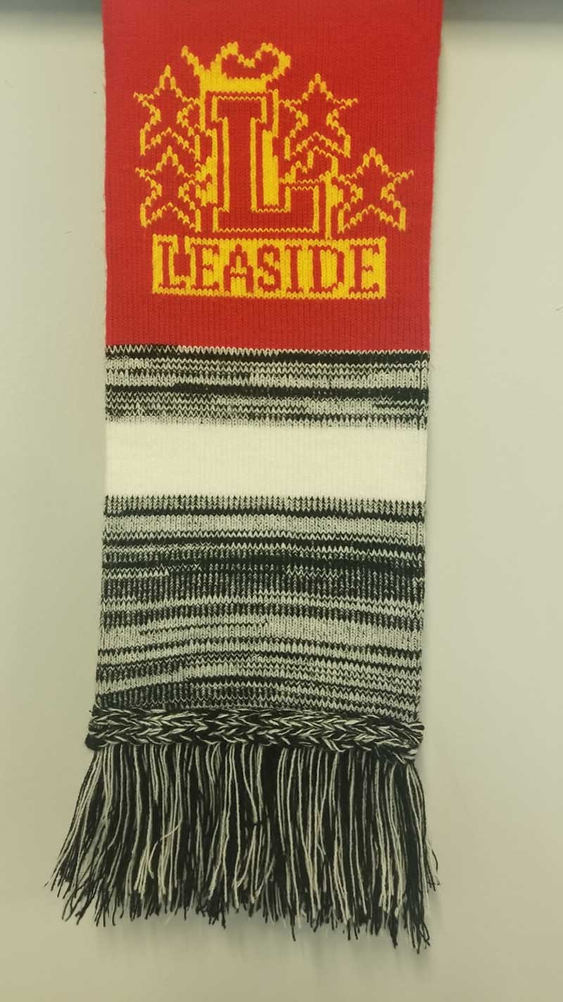 Leaside Flames winter scarf $10 Leaside Hockey Shop, Leaside Arena, 1073 Millwood Ave.