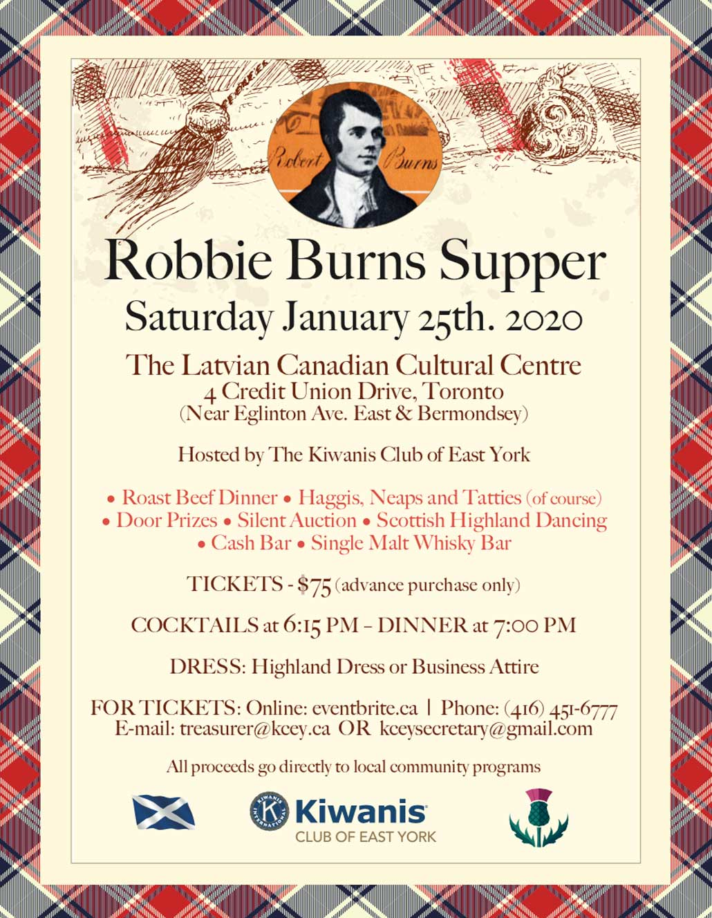Robbie Burns Supper 2020