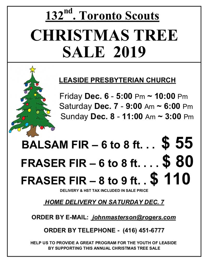Scouts Christmas Tree Sale 2019