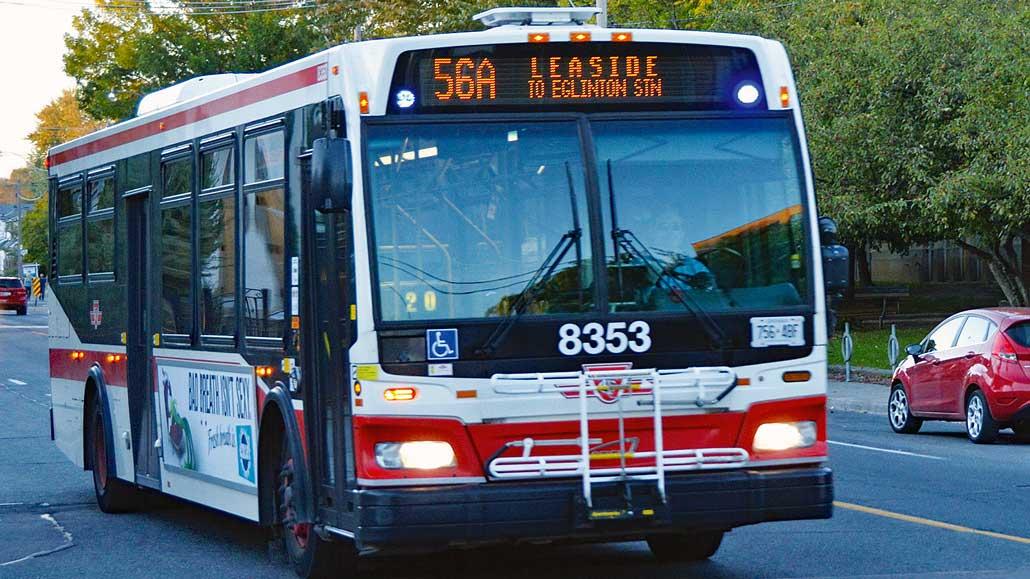 TTC bus.