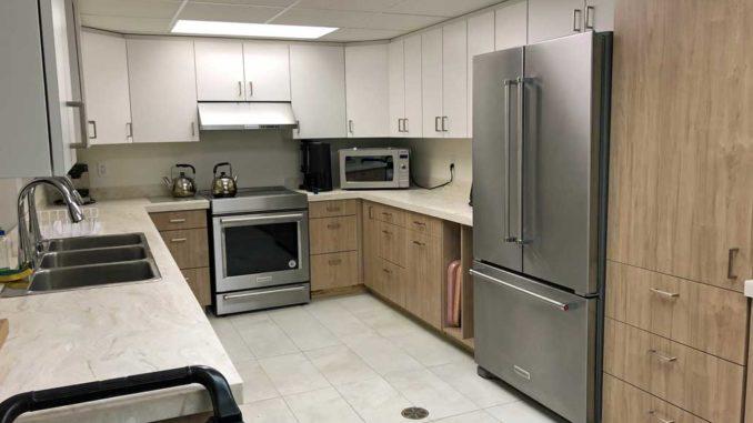 The new kitchen.