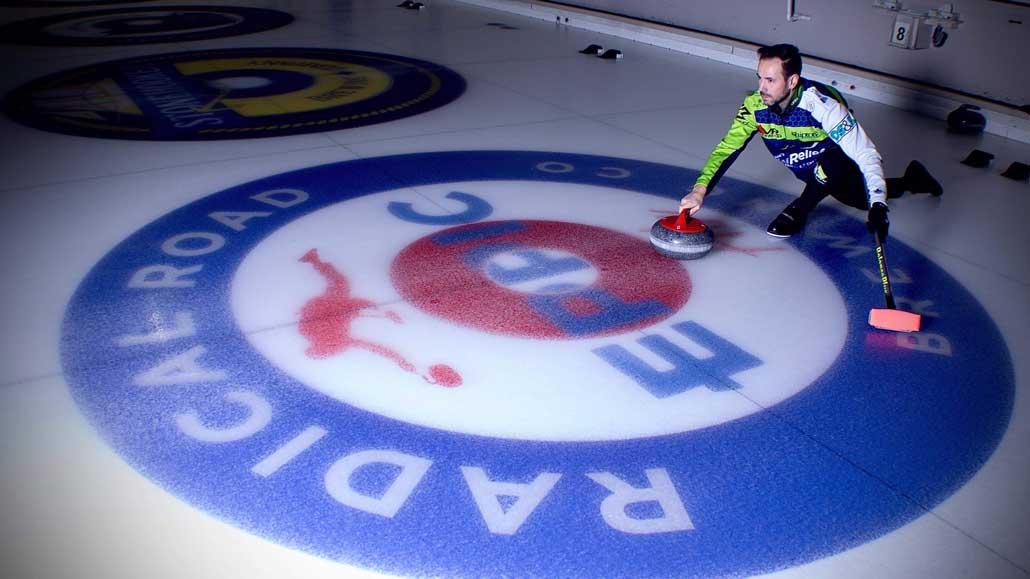 A master of curling in our midst John Epping and his winning team make the Leaside Curling Club their home base. Photo Thomas Shipton.