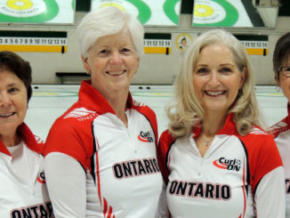 Jan, far left, and her Ontario team.