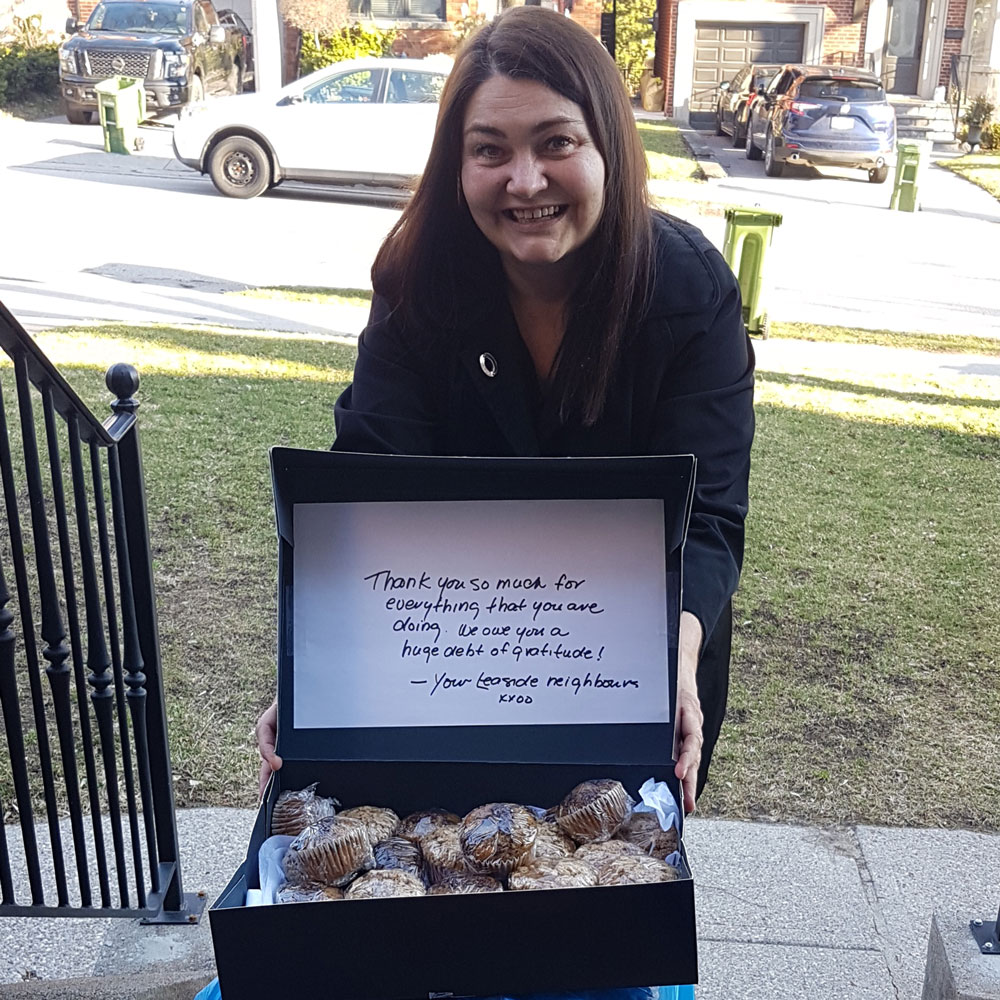 Community Kindness in Leaside - muffins for Sunnybrook.