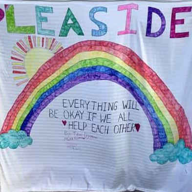 The optimistic rainbow the dymond Family made for Leaside.