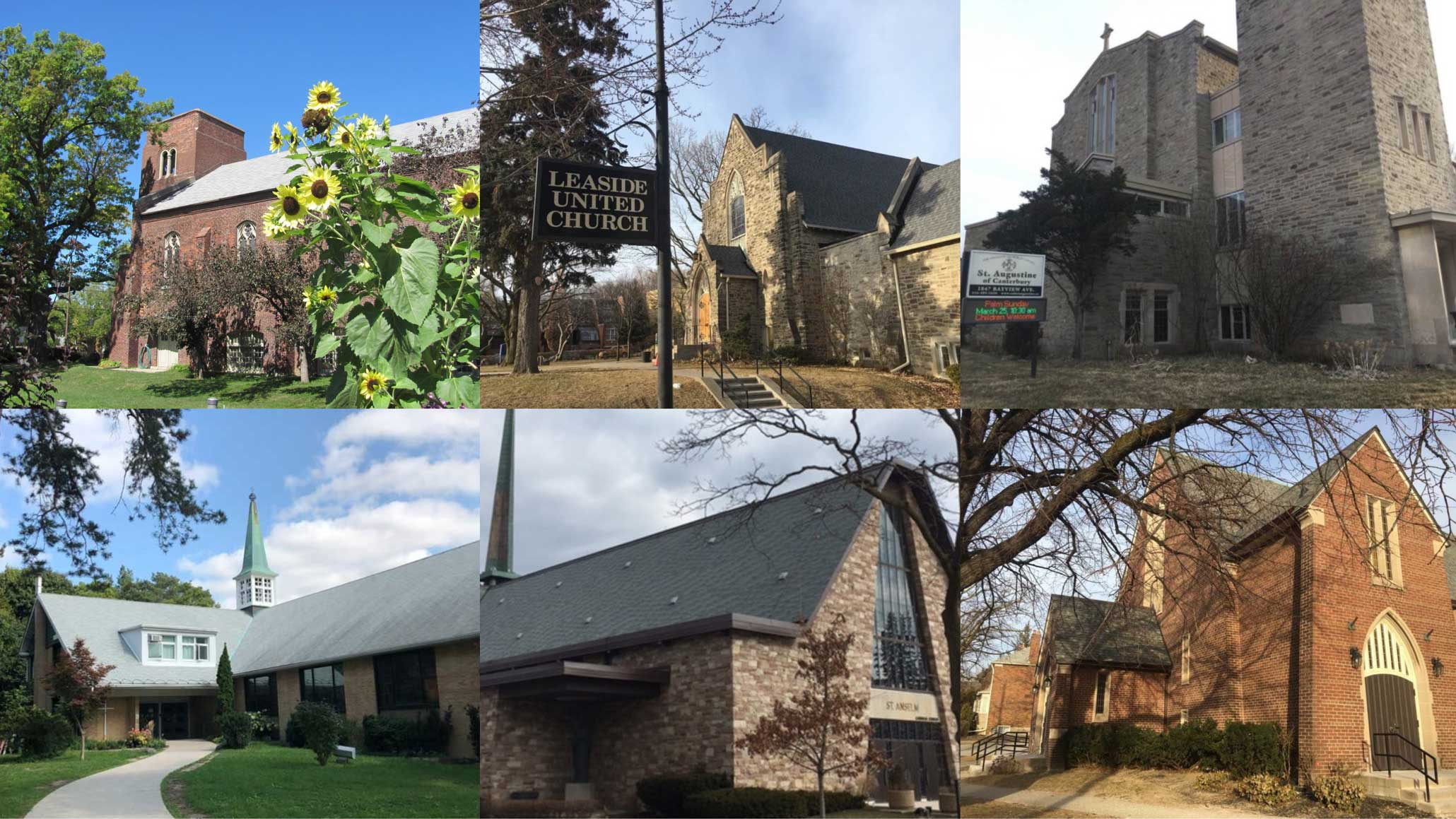 Churches of Leaside collage.