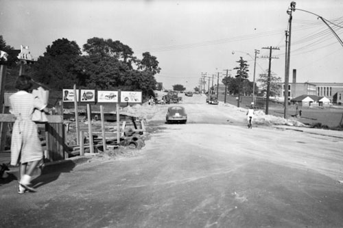 View East at Bayview and Eglinton.