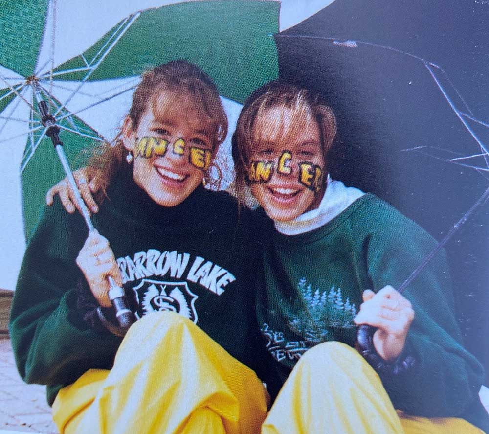 Alyssa Kerbel with friend Pauline (left) in their Leaside High days.