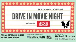 Holland Bloorview Drive in Movie Night graphic.