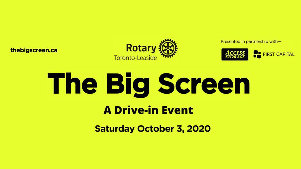 The Big Screen promo poster.