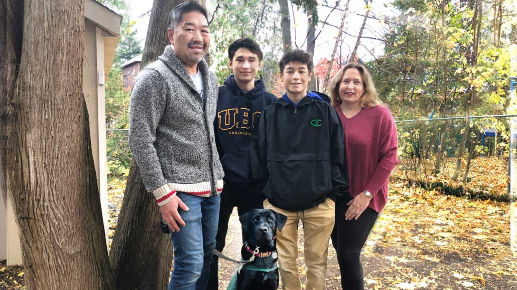 Leaside family has gone to the (guide) dogs