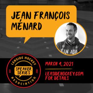 Jean Francois Menard speaker event.