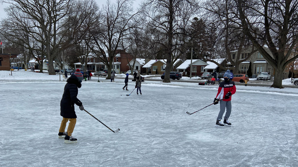 The natural community built ice rink at Trace Manes is a great way to enjoy winter in Leaside.